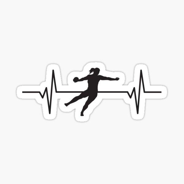 Heartbeat / Pulse - Women's Discus Throw Silhouette  Sticker