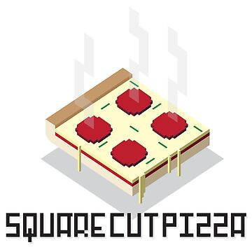 Super Duper Square Cut Pizza Pixel Art by calebprue