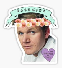 Gordon Ramsay Flower Crown Sass Sticker