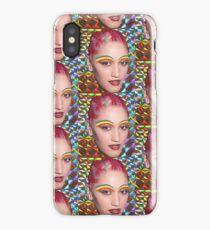 Pink hair hologram Gwen Stefani  iPhone Case/Skin