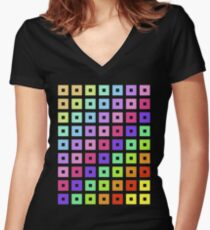 colour! Women's Fitted V-Neck T-Shirt