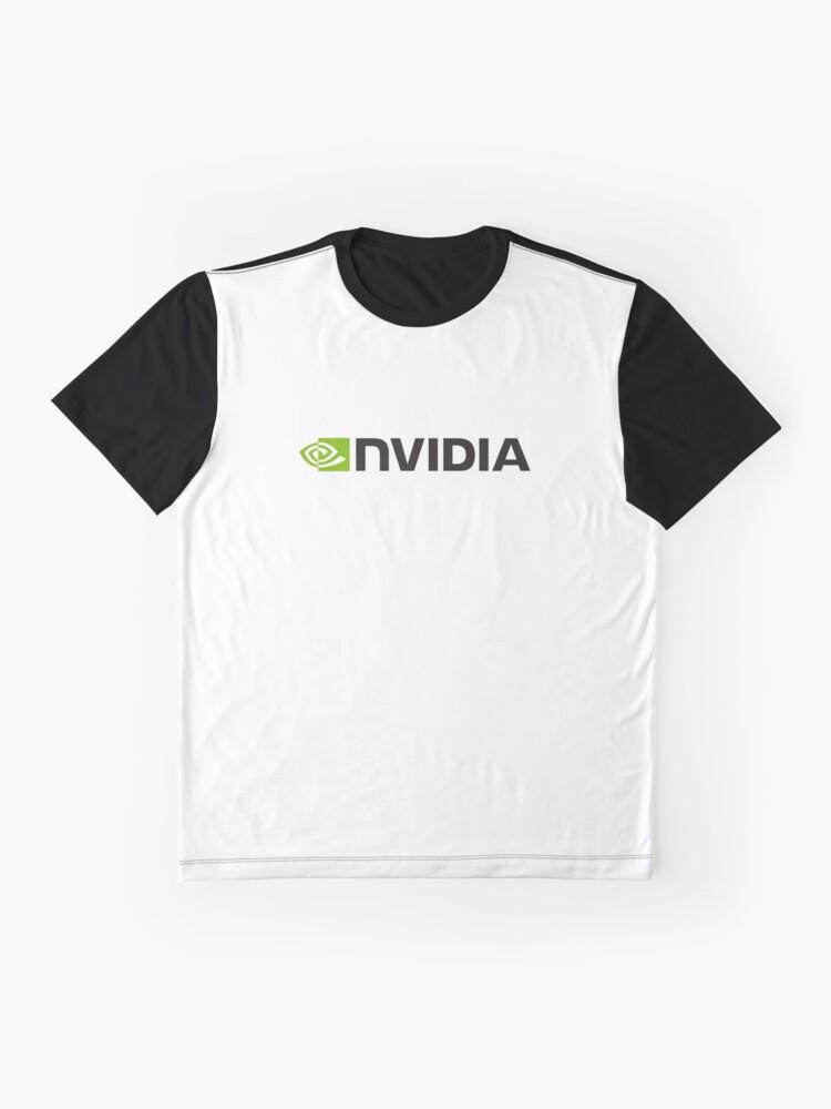 Alternative Ansicht von Nvidia Logo Merchandise Grafik T-Shirt