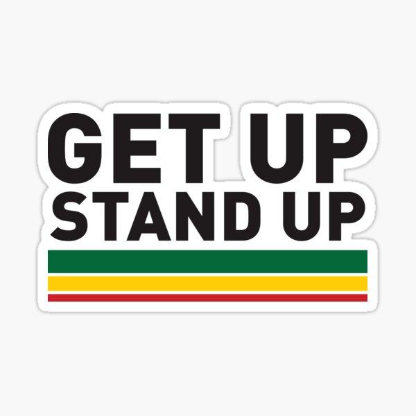 Get up Stand up / Reggae rasta vibrations Sticker