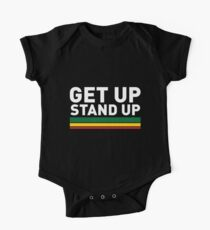 Get up Stand up / Reggae rasta vibrations Short Sleeve Baby One-Piece