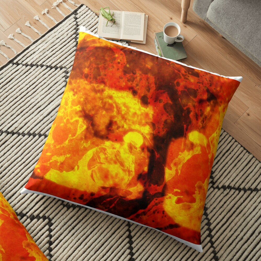 LAVA KISSES DEUCE  Floor Pillow