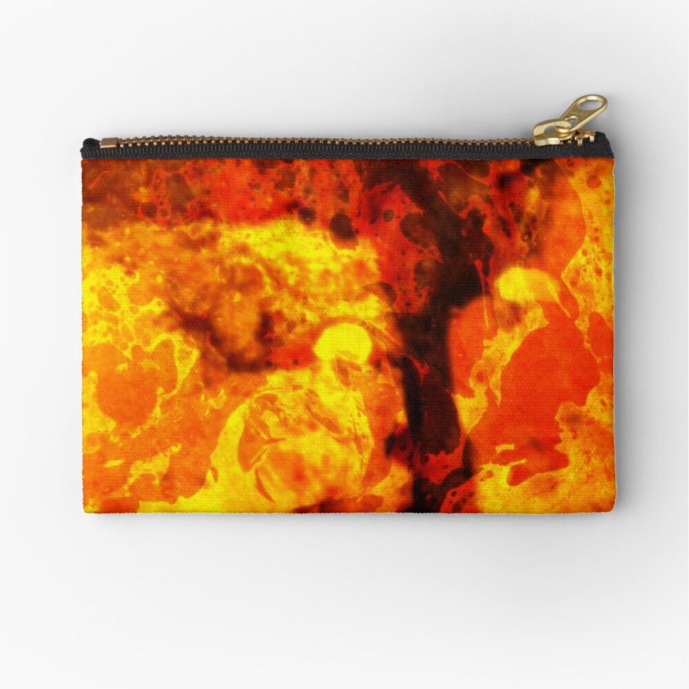 LAVA KISSES DEUCE  Zipper Pouch