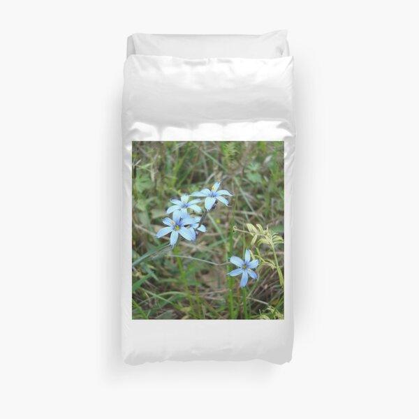 Blue-eyed Grass Duvet Cover