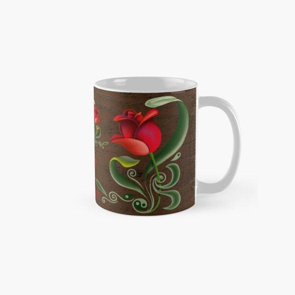 D1G1TAL-M00DZ ~ FOLKART ~ Red Tulip by tasmanianartist Classic Mug