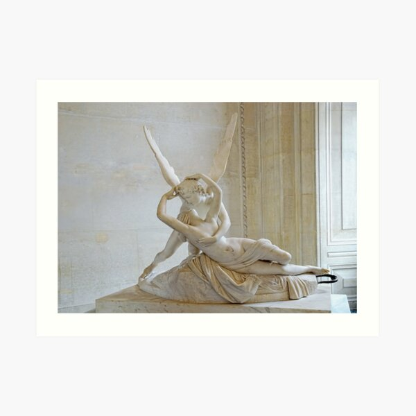 Psyche Revived by Cupid's Kiss Art Print