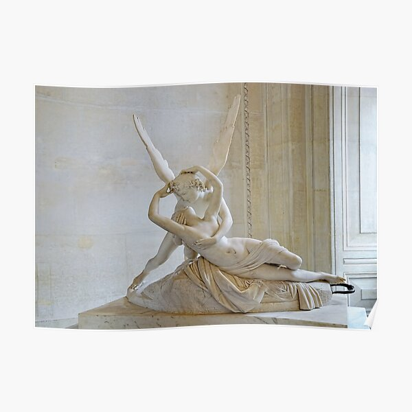 Psyche Revived by Cupid's Kiss Poster