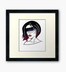 Holo Girl Framed Print