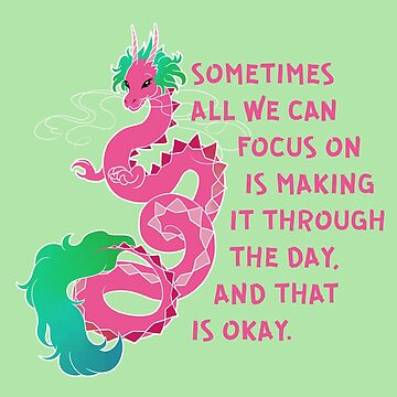 """""""Sometimes All We Can Focus on is Making it Through"""" Chinese Dragon by thelatestkate"""