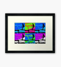 Up and Over - Stunt Scooter  Framed Print