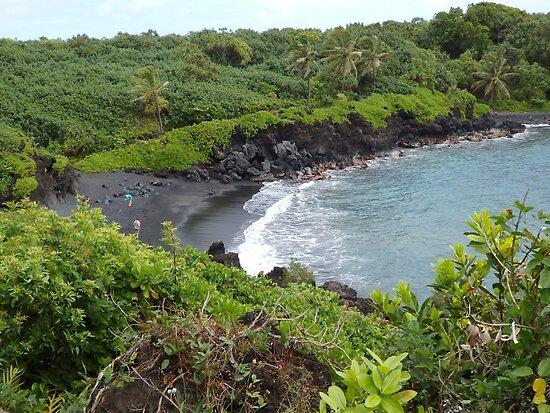 Maui Black Sand Beach Vista by Marielle Valenzuela