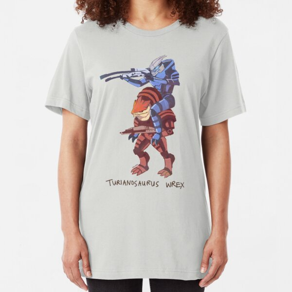 Turianosaurus Wrex Slim Fit T-Shirt