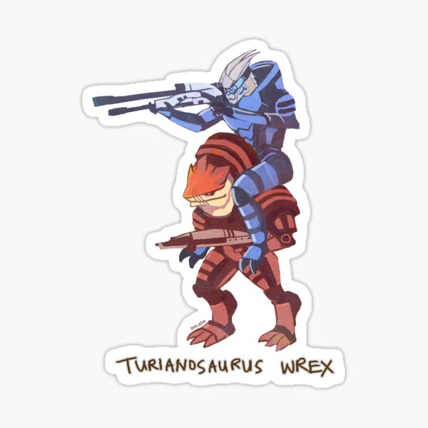Turianosaurus Wrex Sticker