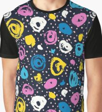 Cool colorful brush blots Graphic T-Shirt