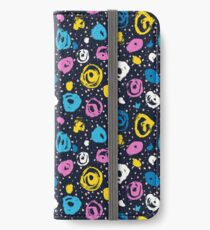 Cool colorful brush blots iPhone Wallet/Case/Skin