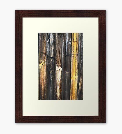 Fence Aged and Textured Framed Print