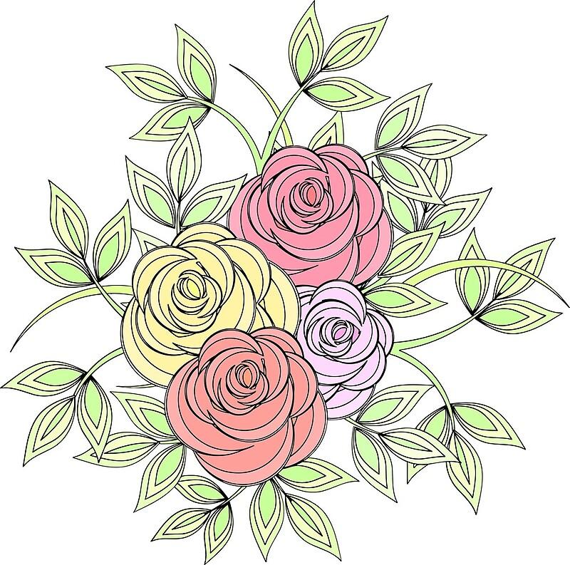 Букет роз графика