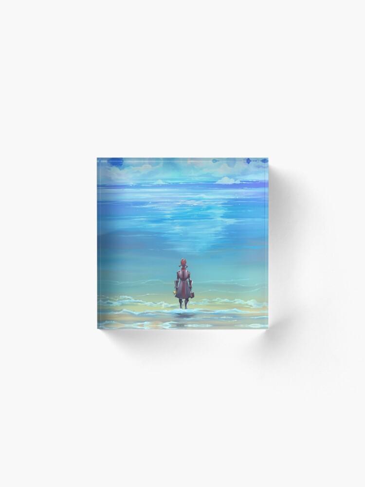 Alternate view of Seashores of Eternity Acrylic Block
