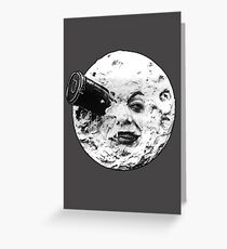 A Trip to the Moon (Le Voyage Dans La Lune) - face only Greeting Card