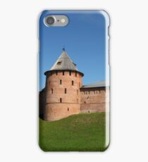View of the fortress wall of the Novgorod Kremlin iPhone Case/Skin