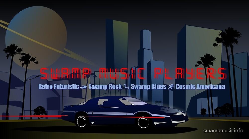 Swamp Music Players, retro futuristic firebird by swampmusicinfo