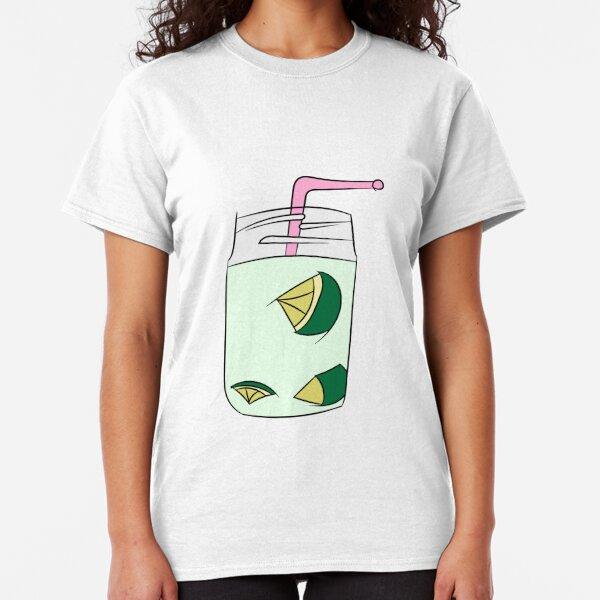 Beautiful Cartoon Detailed Fresh Caipirinhas Cocktail Alcohol Drink Bar Beverage Glass Ice Lime For Summer Classic T-Shirt