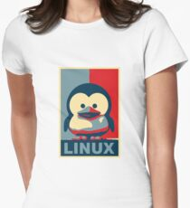 Linux Baby Tux Womens Fitted T-Shirt
