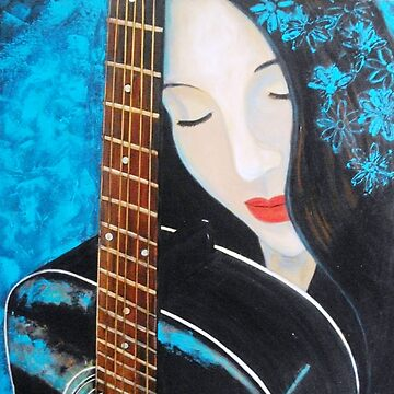 Blue Girl with Guitar by BillyLee