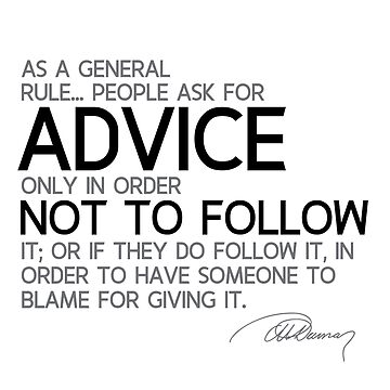 people ask for advice - alexandre dumas by razvandrc