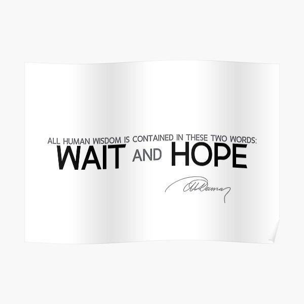 wait and hope - alexandre dumas Poster