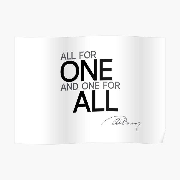 all for one - alexandre dumas Poster
