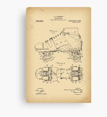 1908 Roller-skates Patent history invention Canvas Print