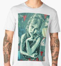 Eyes Wide Shut, Urban Graffiti in Florence, Italy  Men's Premium T-Shirt
