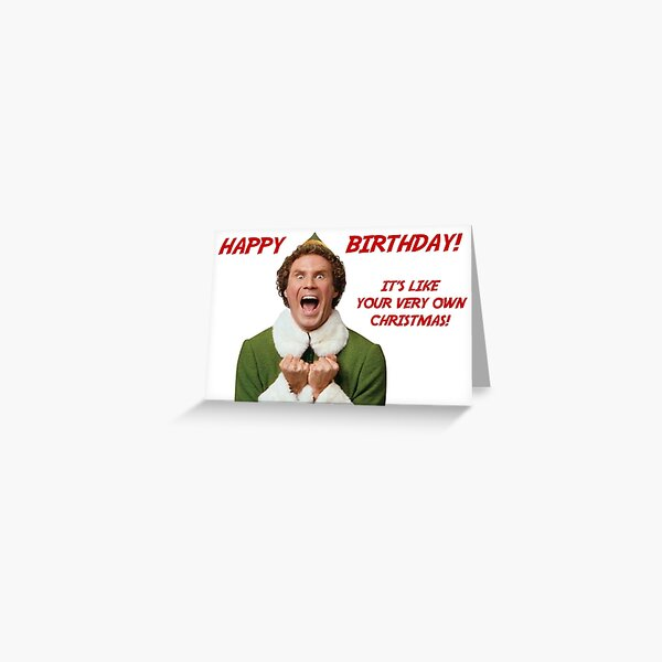 Happy birthday elf Greeting Card