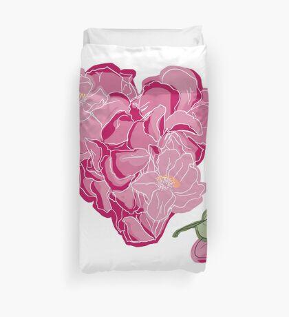 Blumenherz Bettbezug
