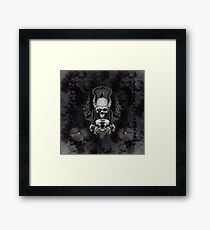 Amazing skull with wings and crow Framed Print