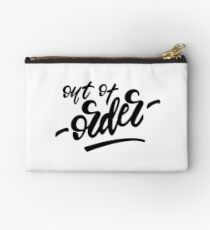 Lettering design Out of order.  Studio Pouch