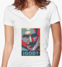 iGod? Women's Fitted V-Neck T-Shirt