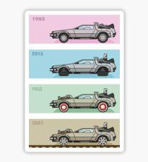 Back to the Future - Delorean x 4 Sticker