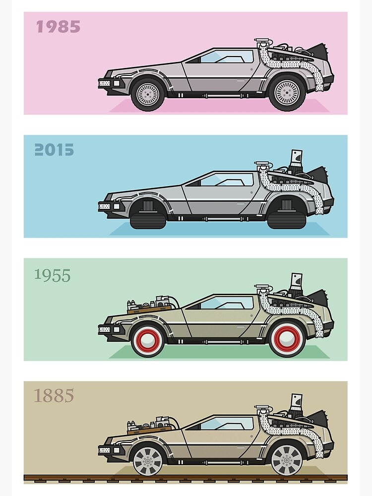 Back to the Future - Delorean x 4 by mgulin