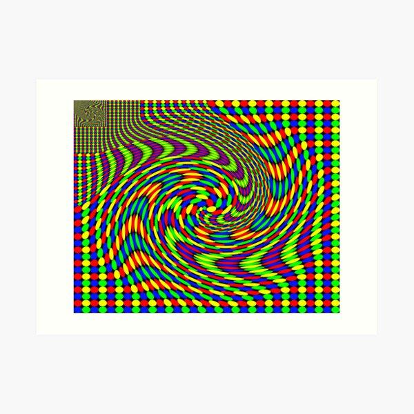 Twisted Gestalt Flag of Fractality Art Print