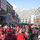 Tibetan Pilgrims, Lhasa by Hugh Chaffey-Millar