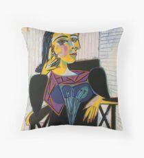 Portrait of Dora Maar-Pablo Picasso Throw Pillow