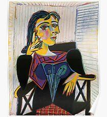 Portrait of Dora Maar-Pablo Picasso Poster