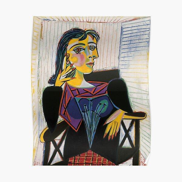 Portrait de Dora Maar-Pablo Picasso Poster