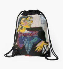 Portrait of Dora Maar-Pablo Picasso Drawstring Bag
