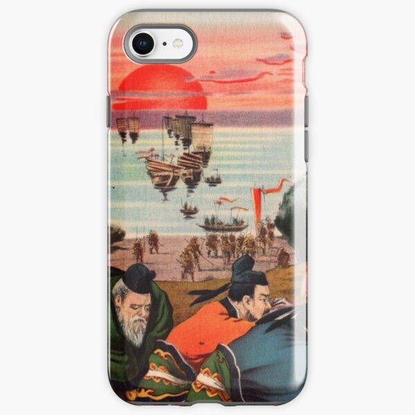 Ukiyo-e print of a group of Samurai iPhone Tough Case